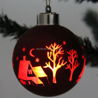 8cm wholesale glass christmas ball ornaments