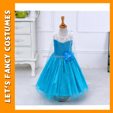 Christmas Elsa Dress Cosplay Costume Kids Princess Birthday Anna Dresses For Girl Of 3-8 Year Fashion Children Wear PGCC-0723