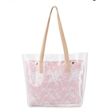 Fashion Large Capacity PVC Transparent Clear Handbag <strong>Totes</strong> For Lady