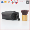 Low MOQ bamboo handle flat top hair brush in makeup brushes