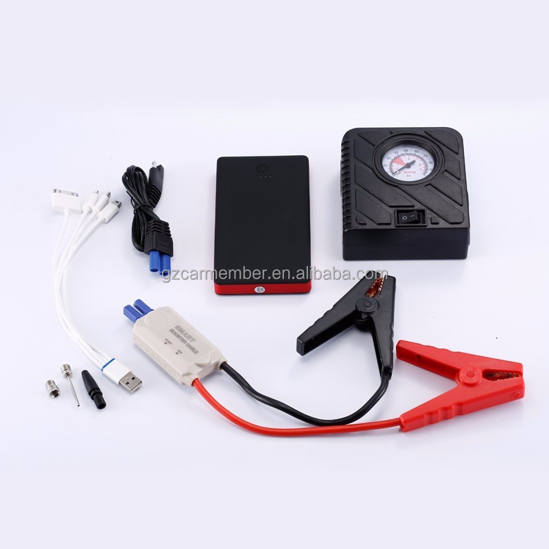 CAR MEMBER customized jump start battery pack portable jump starter mini power bank phone charger car battery manufacturer