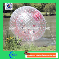 Aqua inflatable water walking balls PVC / TPU giant zorb ball for sale