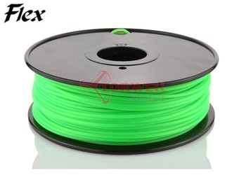 1.75/3mm Flexible (similar with NinjaFlex) plastic 3D Printer Filament for FDM, Ultimaker and MakerBot 3D printer