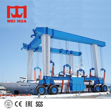 High Effective Heavy Travelling Lift Boat Crane 80 Ton For Sale