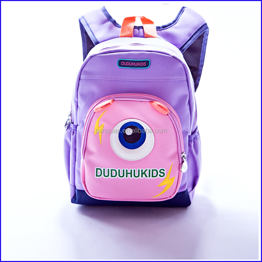 2016 New design kids cartoon picture of school bag