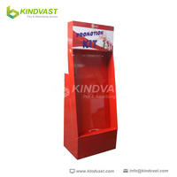 Phone Case Foldable Corrugated Floor Hook Display Stand