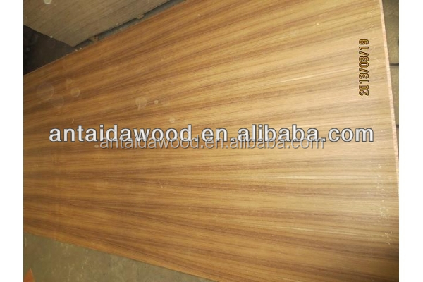 3.0mm golden color natural burma A grade teak veneer plywood from Linyi