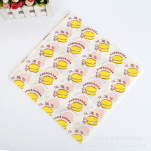 Printed greaseproof paper for fast food wrapping