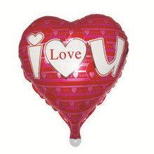 Happy Together factory Wholesale Wedding LOVE U Heart Shape Inlflatable Foil Balloons
