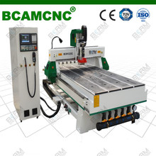 4 axis cnc milling mahcine of cnc router with 8 linear tool changer, 12 HP HSD spindle for wooden furniture design