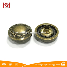 brush antique brass snap button cover