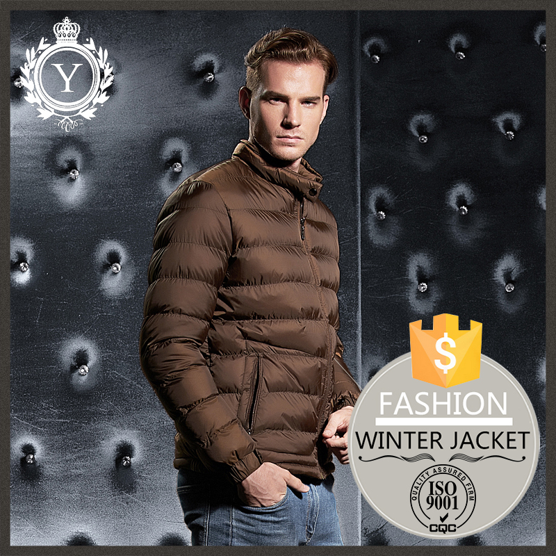 2016 COUTUDI new design fit outdoor mens winter custom puffer varsity track jacket wholesale