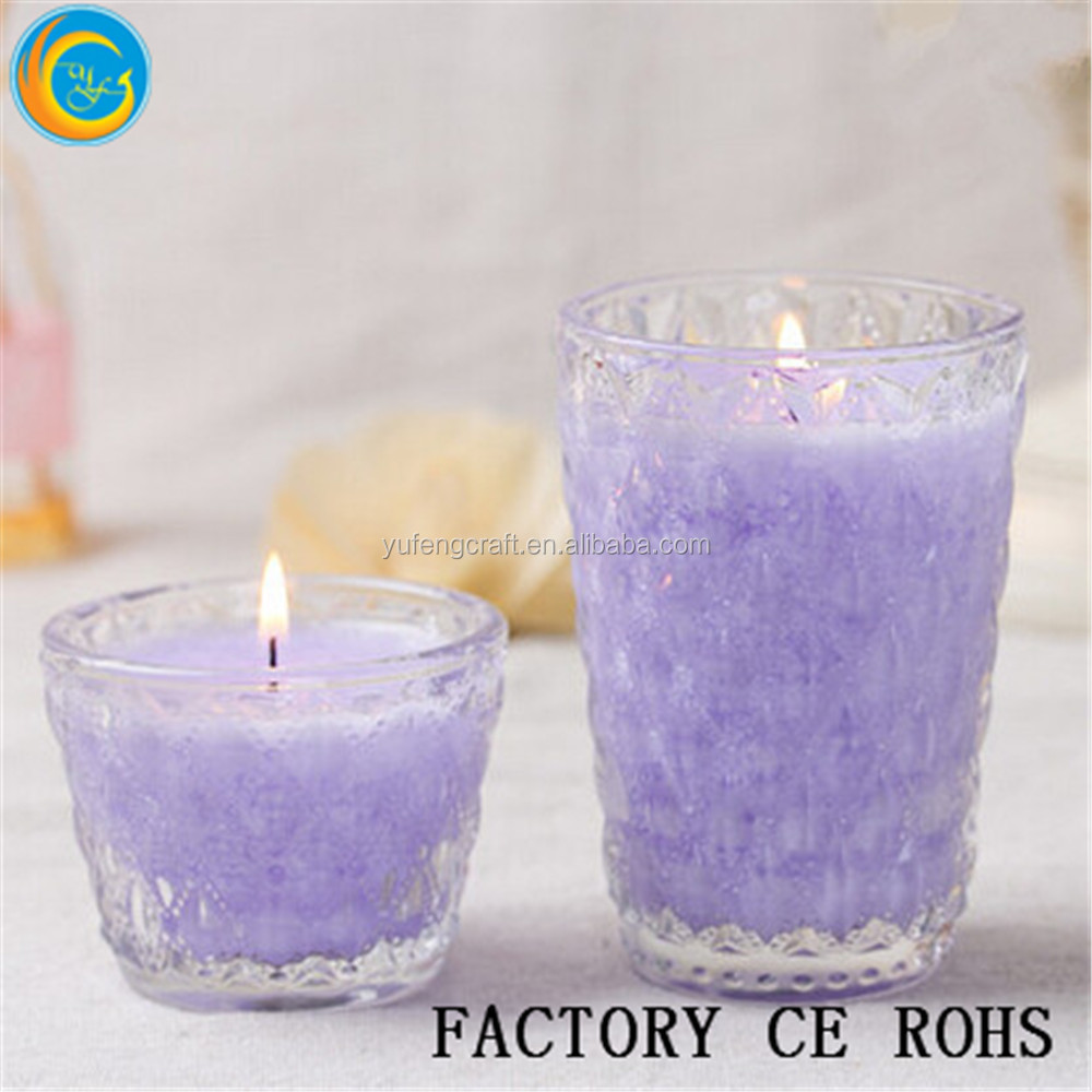 Online /Crystal Purpur Votive With Candle /Tealight Holder /Glass Gift For Wedding