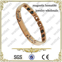 New Women Rose Gold Plated Stainless Steel Magnetic Hematite Jewelry Wholesale