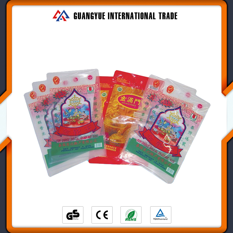 Guangyue Promotional Custom Size 50Kg Thailand Rice PP Woven Sack Food Packaging Bag
