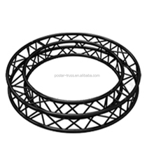 TUV Certificate 290x290mm black ceiling lighting truss system round hanging lighting truss