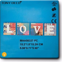 MAA56337 Wholesale Painted Mdf Wooden Love Wall Alphabet Letter