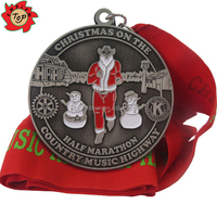 2015 Customer DIY Metal Medal for Christmas Half Marathon and Harvest Run Sports Medals New Year Souvenir Gifts