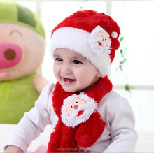 Merry christmas hat children winter hat handmade cotton hats for baby