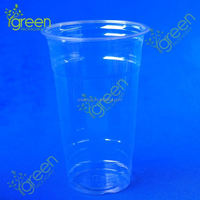 Newest Clear PET plastic cup 10 oz