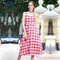 Cheap Wholesale Ladies Casual Plaid Summer Dress