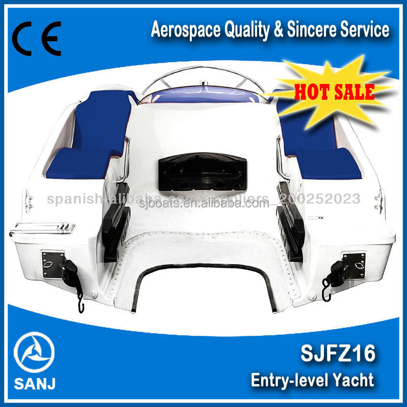 Fibergalss Combine boat 6 passengers personal watercarft jet ski powered boat factory