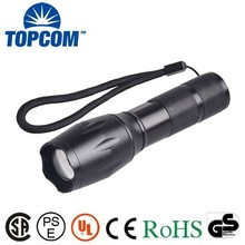 Adjustable Focusing Extra Long Time Working 5 Mood High Power Super Bright Zoomable Rechargeable T6 LED Flashlight