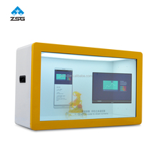 Android/windows/Standalone/ network WLAN Advertisement USB RJ45 transparent lcd display box LCD Showcase