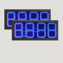 gas station design/ led digital gas price sign/ large display clock countdown