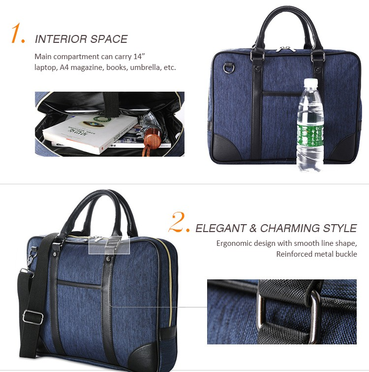 Free sample cheap oxford fabric 14 inch mens business laptop bag for laptop