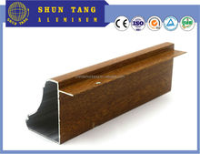 Wood grain coated/anodized/Powder coating/Electrophoresis kitchen aluminium profile for kitchen products