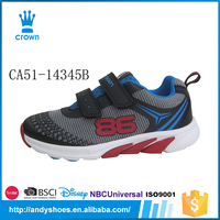 New style light weight buckle strap boys breathable casual running shoe