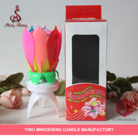 colorful double-layer rotation electric birthday candle