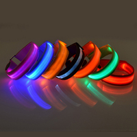7 color nylon webbing led dog collar usb rechargeable light up flashing usb charging led dog collar