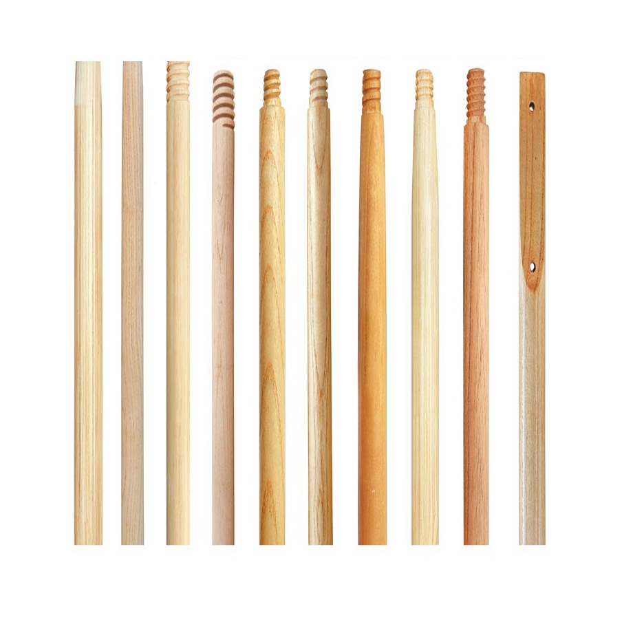 High quality mop wooden handles, wooden threaded handles, customizable connection options