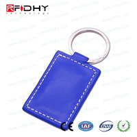 With An Iron Ring custom waterproof blue plastic rfid key fobs for Door Entry system