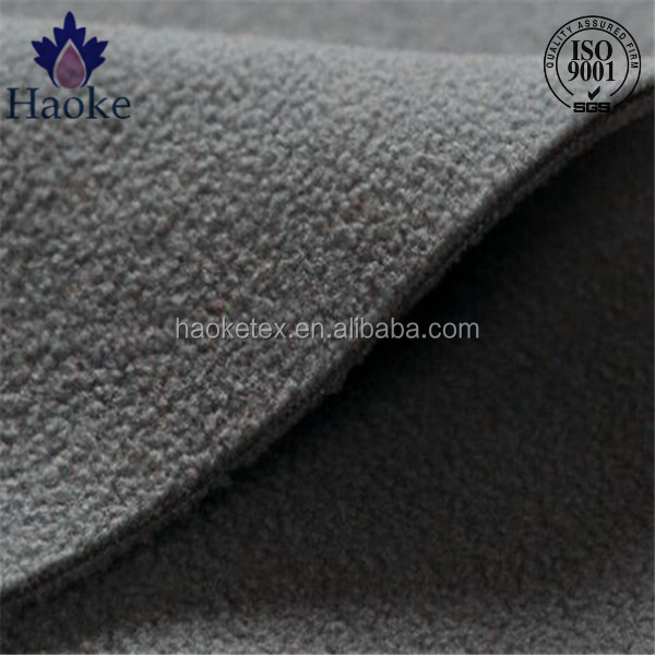 two sided brused two sided anti pilling heavy polar fleece fabric