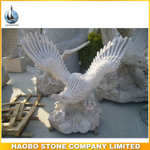Outdoor Famous Garden Stone Granite Eagle Animal Sculpture