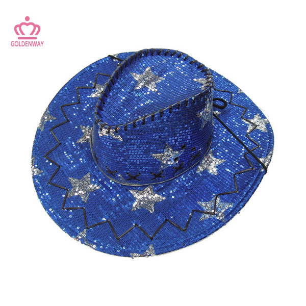 Designer rhinestone Cowboy hat with sequin