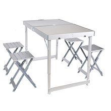 Aluminium Alloy Outdoor Split Type Leisure Folding Picnic Table