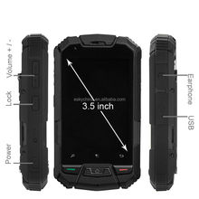 Original M6 Waterproof Shockproof Dustproof Ourdoor Cell Phone,3.5inch MTK6577 Dual Core 512MB+4GB 5.0MP Mobile Phone