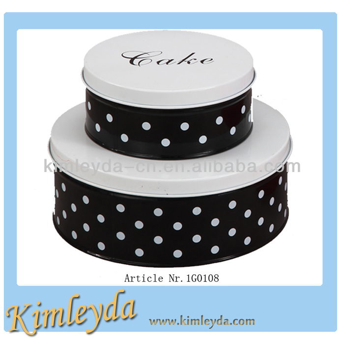 Tin Printed Cake Bin with transfer decal