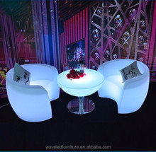 colourful comfortable luxury one seater led light sofa