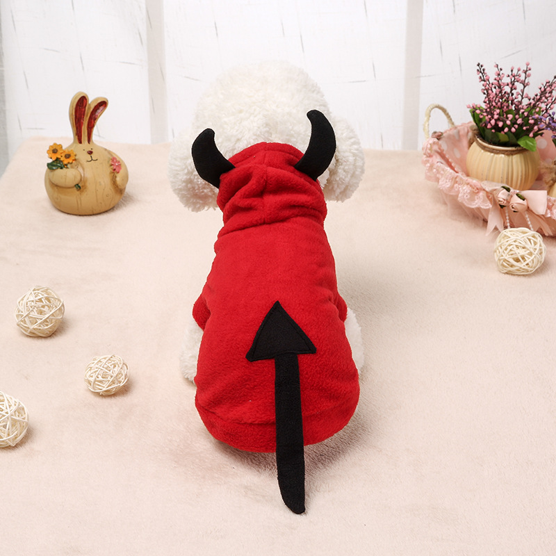 <strong>Pet</strong> dog and cat Halloween little devil <strong>pets</strong> transform into costumes