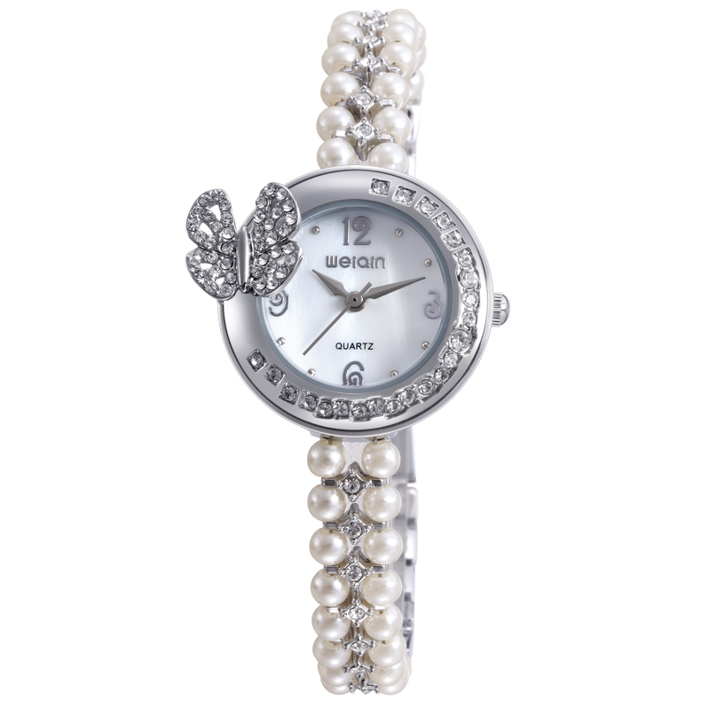 latest vintage Pearl silver 925 watch for women