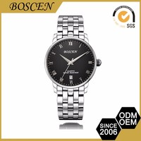 2016 Boscen Fashion Mens All 316L Quartz Stainless Steel Branded Name Wrist Watch