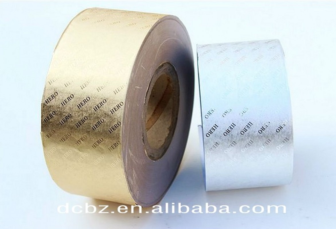 45g Gold Embossed Metallic Paper Rolls For Cigarettes Packaging