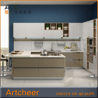 Hot! High Quality Affordable Flat Pack Acrylic Kitchen Designs