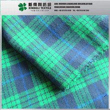 100% cotton 150gsm brushed twill flannel plaid fabric