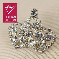 Latest designs shiny crown bulk rhinestone brooches wholesale